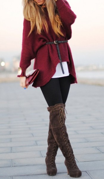 Belted-Big-Sweater