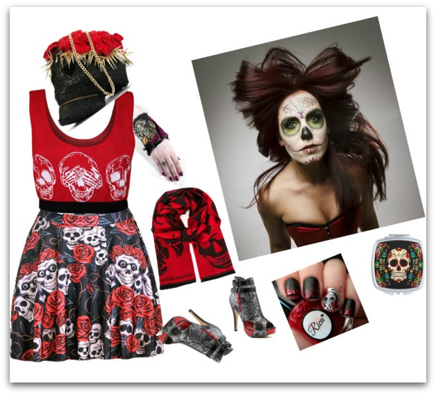 halloween skull costume
