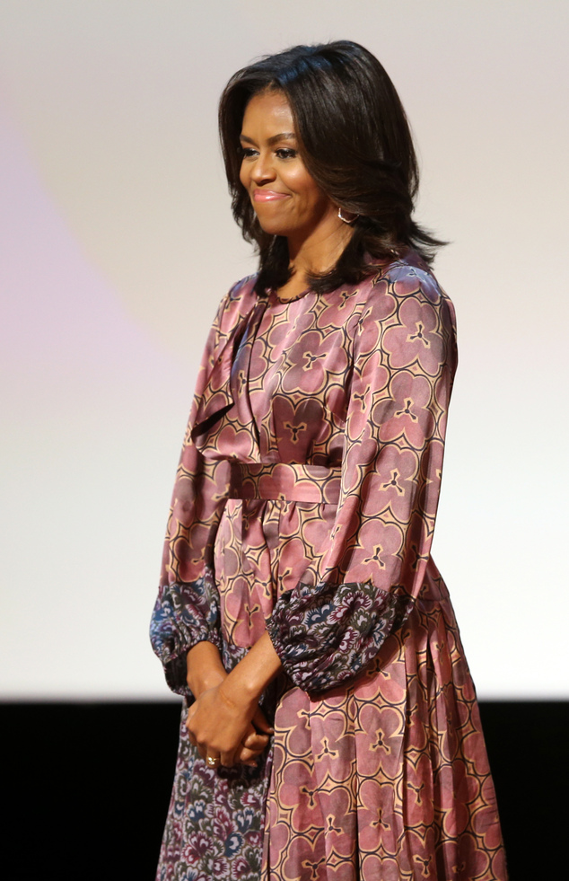 Mideast Qatar Michelle Obama
