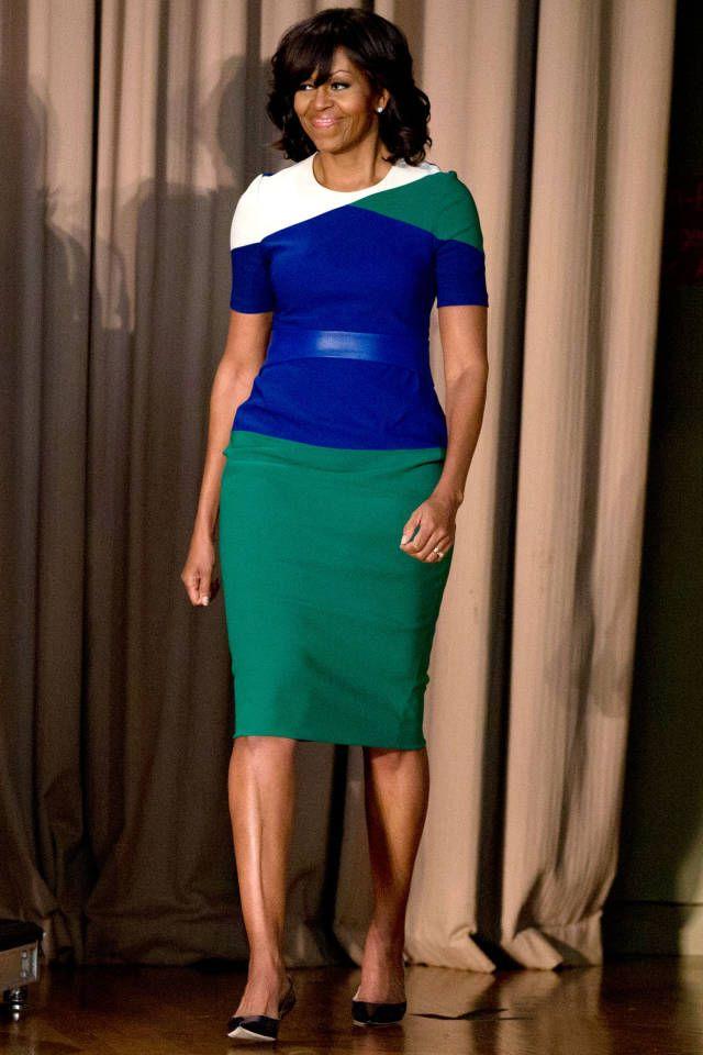 michelle-obama-multicolored-dress