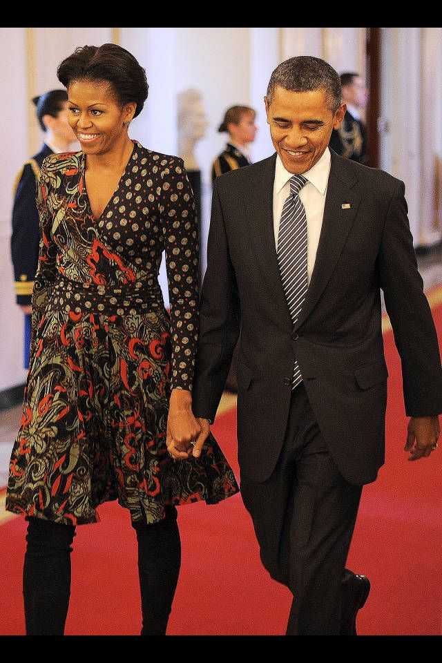 michelle-obama-printed-dress